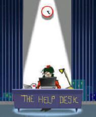 girl working at the help desk for love advice