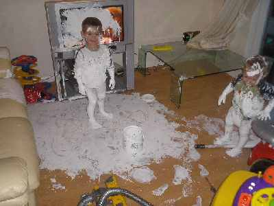 funny picture of kids covered in paint