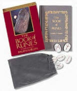 picture of the book of runes and stone set with pouch