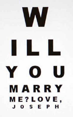 eye chart marriage proposal