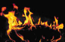 roaring flames symbolizing burning love