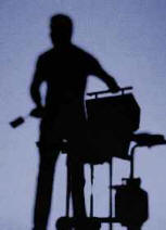 silhouette of a man and his barbecue