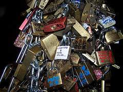 lovers padlocks in Italy