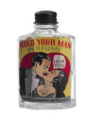 hold your man perfume in old bottle cute