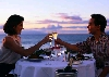 couple toasting romantic dinner for two
