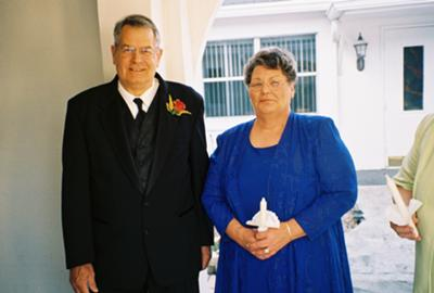 Becky and Mike at younger son's Wedding